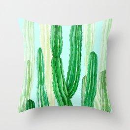 cactus green Throw Pillow
