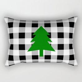 Christmas Tree - black buffalo check Rectangular Pillow