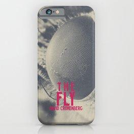 The Fly, horror movie poster, David Cronenberg, Jeff Goldblum, alternative playbill iPhone Case