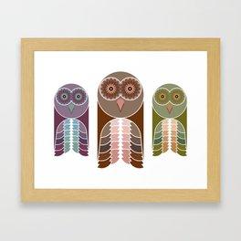 Owl With Kaleidoscope Eyes Framed Art Print