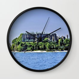 Medieval Ruins - Lake Garda Wall Clock