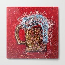 Abstract Beer - Inspired By Pollock  #society6 #wallart #buyart by Lena Owens @OLena Art Metal Print