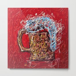 Abstract Beer - Inspired By Pollock  #society6 #wallart #buyart by Lena Owens @OLena Art Metal Print