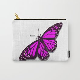 Pink Monarch Butterfly Carry-All Pouch