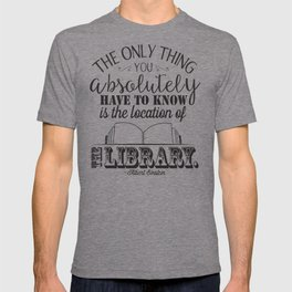 Location of the Library B&W T-shirt