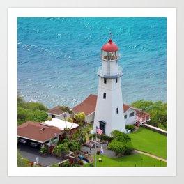 Diamond Head Lighthouse Art Print