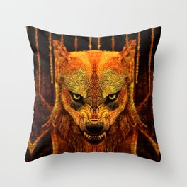 Canis Lupus I Throw Pillow