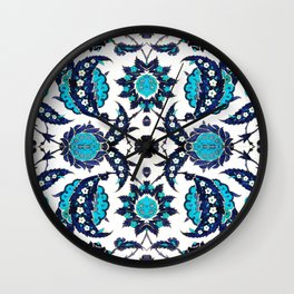 Floral Fabric Vintage Gift Pattern #6 Wall Clock