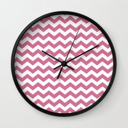 Chevron Bubblegum Wall Clock