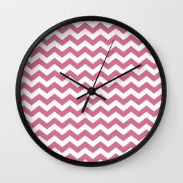 Chevron Bubblegum Wall Clock