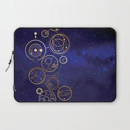Gallifrey Gold Space Geometry Laptop Sleeve