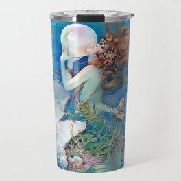 Sensual Art Deco Pearl Mermaid Travel Mug