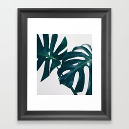 Monstera Minimal Framed Art Print