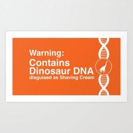 Dinosaur DNA Art Print