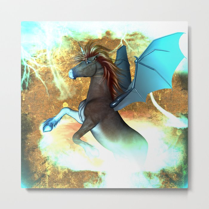 Dark unicorn  Metal Print