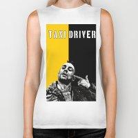 taxi driver Biker Tanks featuring Travis Bickle Taxi Driver by Maxim Garg