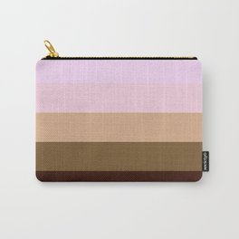 Brown Beige Stripes Carry-All Pouch