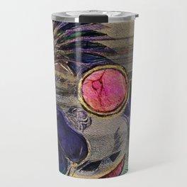 Egyptian Scarab Beetle Abstract on canvas Travel Mug