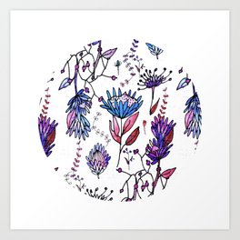 Protea Flower Lilac #homedecor Art Print