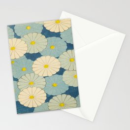 Shin-Bijutsukai – Japanese Design Blue Floral Pattern Stationery Cards