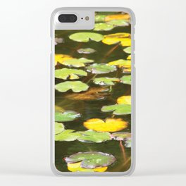 Pond flower Clear iPhone Case