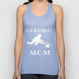 Funny Curling Mom Unisex Tank Top