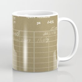Library Card 797 Negative Brown Coffee Mug