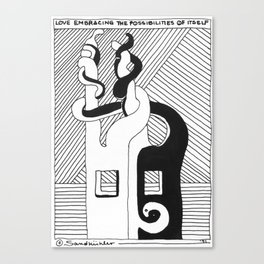 Love Embracing the Possibilities of Itself / 1991: The Booth Philosopher Series Canvas Print