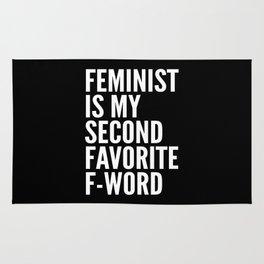 Feminist is My Second Favorite F-Word (Black) Rug