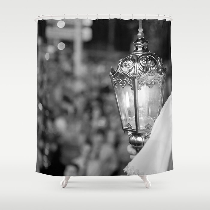 Procession lamp Shower Curtain