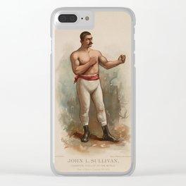 John L. Sullivan - Champion Pugilist - Color Print Clear iPhone Case