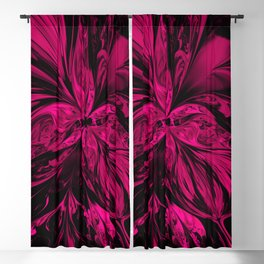 pink fractal flower Blackout Curtain