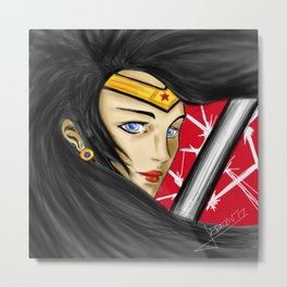 Wonder Diana Metal Print