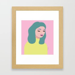 Bed-head Bettie Framed Art Print