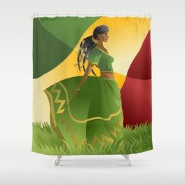 african rastafarian girl Shower Curtain