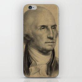 Vintage George Washington Portrait Illustration iPhone Skin