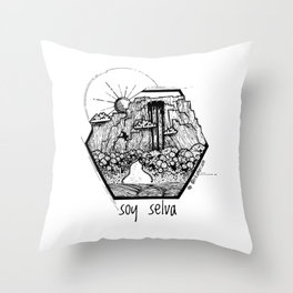Soy Selva / I am jungle Throw Pillow
