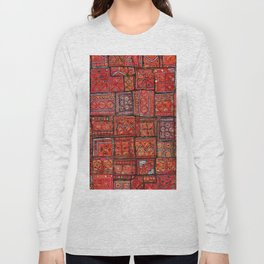V5 Red Traditional Moroccan Design - A3 Long Sleeve T-shirt