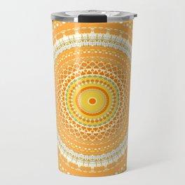 Marigold Orange Mandala Design Travel Mug