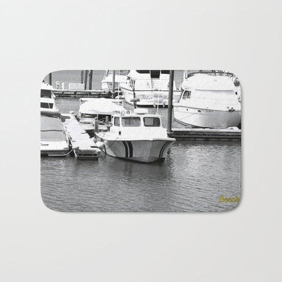 Boats BW Bath Mat