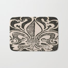 Distressed Fleur-de-Lis Bath Mat