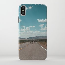 cows on the open road iPhone Case