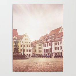 Freiberg, Germany Town Square Poster