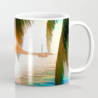 paradise Mugs featuring Paradise by Tami Cudahy