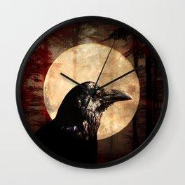 Crow Moon I Wall Clock