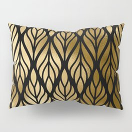Havana Sultry Night Gold and Black Art Deco Pillow Sham
