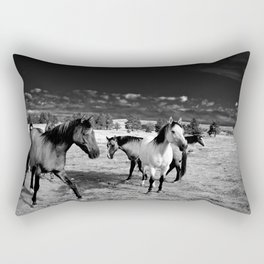 Roaming Mustangs 1 Rectangular Pillow