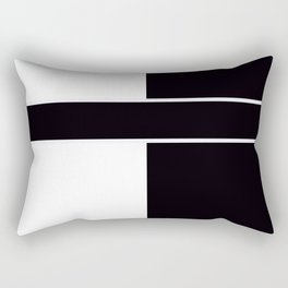 Team Color 6....black,white Rectangular Pillow