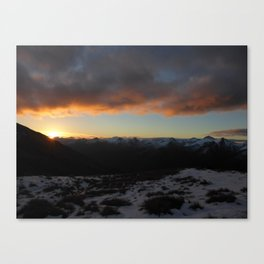 Sunset on the Southern Alps Canvas Print