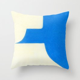Driveway in Blue Throw Pillow